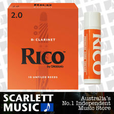 Rico Bb Clarinet 10 x Reeds, Strength 2.0 ( Two ) 10-pack RCA-1020 + Cork Grease