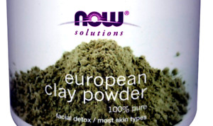 80g (in bag) now solutions european clay powder facial detox 100% pure + gifts