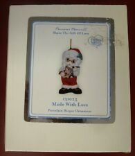 Precious Moments 131023 Made With Love Porcelain Bisque Ornament Santa New