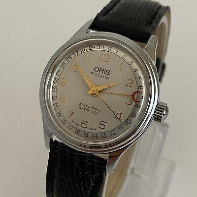 Watch Oris 17 jewels 302-7285B manual winding , original strap , works fine