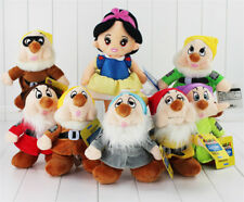 New The Snow White Princess and Seven Dwarfs Soft Plush Doll Toy Set of 8 pcs