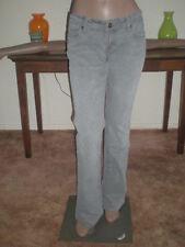 Women's !IT Los Angeles Cotton Blend Gray Low Rise Slim Fit Flared Jeans 29R EUC