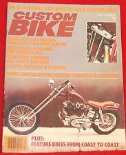 Custom Bike Magazine, July 1979 Near Mint Condition