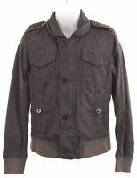 G-STAR Mens Windbreaker Jacket Size 36 Small Black Cotton  FL12