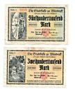 Wilsdruff Notgeld 2 Scheine. Los 1498. schoeniger-notgeld