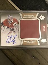 15-16 Ultimate ZACHARY FUCALE  Auto Jumbo Materials Rookie 19/40 Canadiens