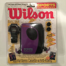 Vintage Wilson Am/Fm Cassette Player Wg85Wp with Digital Watch Factory Sealed