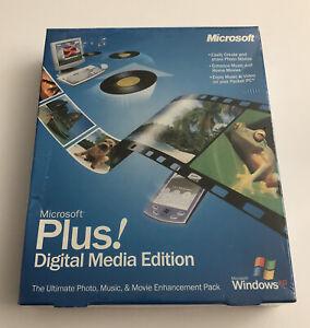 Microsoft Plus Digital Media Edition New Sealed Genuine - Big Box Retail NOS