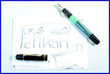 1951 PELIKAN 100 N green-marbled Pen with flexible OF Nib in 14K 585 Gold