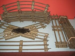 17 sections Ives & Lionel prewar Standard gauge track w/45degree crossing C-5 sb