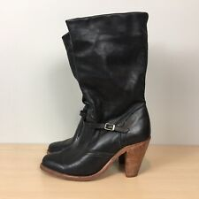 Dexter Vintage Mid Calf Leather Black Women's Boots 7