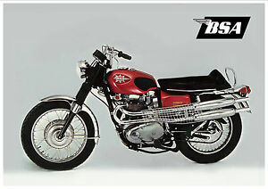 BSA Poster A65 Firebird Lightning 1969 1960s Suitable to Frame