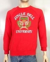 vtg 80s 90s puffy paint Ugly Christmas Sweater Party Sweatshirt Jingle Bell U L