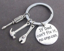 If Dad Can't Fix it No One Can Hand tools Keychain,Daddy Keyring,gift for dad