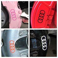 10 pc set Audi Brake Caliper Vinyl Sticker Decal Logo Overlay All Audi Vehicles