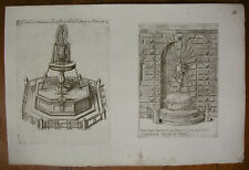 G. G. DE ROSSI `FONTANA DE CATTACUMINI; SOWIE BRUNNEN AM PALAZZO SPADA´ ~1650