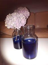 Blaue glasflaschen deko for Blaue blumentopfe