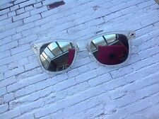 Vintage retro clear Mirrored lens sunglasses  festivals fancy dress