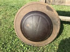Vintage V8 Brown Hubcap , Rusted , Odd Repoduction ?
