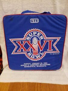 VINTAGE 1992 Super Bowl XXVI Seat Cushion, Washington Redskins, WOW-NICE!!