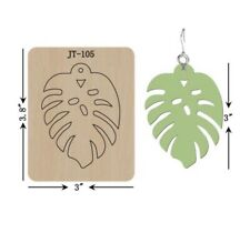 Leather  Earring Cutting  Die / Sizzix Compatible - JT105