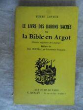 LA BIBLE EN ARGOT PIERRE DEVAUX 1974