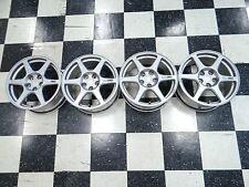 4 OEM 03-06 Mitsubishi Lancer Evo Evolution 8 Enkei 17x8 Wheels W/ Center Caps!