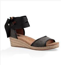 "NIB Women UGG ""Amell"" Wedge Sandals Black Size 8"