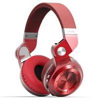 Casque Bluetooth Bluedio T2+ sans fil avec microphone micro-SD et FM radio Rouge