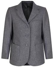 "Girls Grey Wool School Blazer 61cm 24"""