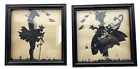 Pair of Primitive Silhouettes  of man and woman signed GAC
