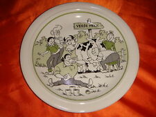 1990 Bob and Bobette Cartoon Porcelain Plate, Green Color, Made in Belgium