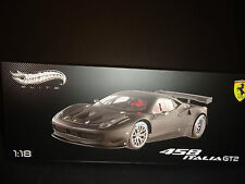 Hot Wheels Elite Ferrari 458 Italie GT2 Présentation Vérsion mat noir 1/18