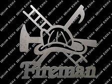 Fireman Metal Wall Art Sign Firefighter Rescue EMT Mancave Christmas Gift Idea