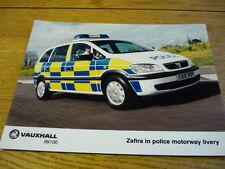 "VAUXHALL ZAFIRA POLICE CAR ORIGINAL PRESS PHOTO ""  BROCHURE ""  jm"