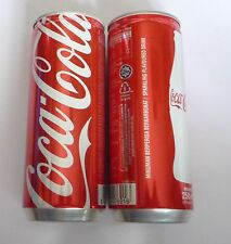 COCA COLA can MALAYSIA Singapore tall 250ml Coke NEW Design 2013 Red
