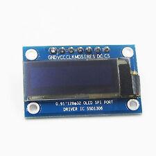 "0.91"" Blue SPI Serial 128x32 OLED LCD Display Module Screen for Arduino 3.3v~5v"