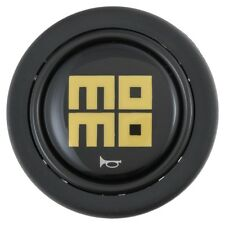 Momo Heritage Horn button Gloss Black with yellow logo for Momo steering wheels
