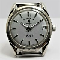 FAVRE-LEUBA GENEVE DAYMATIC 21J  SILVER SHIMMER DIAL SWISS MADE MECHANICA 009465