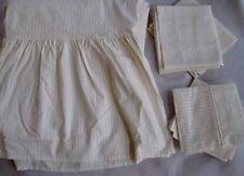 Caroline Charles Fine Linens~King Skirt~2-Std-Shams & Pillowcases~Italy Now $50