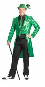 St Patricks Day Kostüm Herren Frack Hut Ireland Irisch Leprechaun Herrenkostüm K