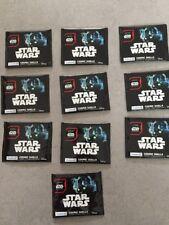 Lot de 10 Pochettes De 2 Jetons Star Wars : Rogue One Cosmic Shells Leclerc Neuf