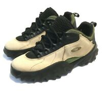 RARE MEN'S OAKLEY 10.5 SAW SHOES Tan Leather w/ Black & Olive Trail Hiking Boots