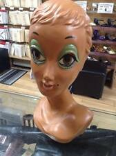 Vintage Female Antique Twiggy Mannequin Head, Biba Era