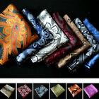 "Lot 1 50 Packs 10"" Men Paisley Silk Stain Pocket Square Handkerchief Wedding"