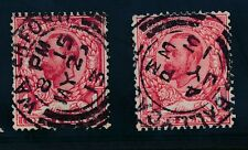 IRELAND 1912 KG5 DOWNEY HEADS WATERFORD + BALLYCASTLE SG336 x 2 VFU CDS..cv £60+