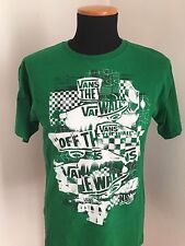 Vans OF the Wall - ORIGINAL - Size M - T-shirt Maglia Maglietta - Green Color