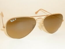 New RAY BAN Aviator Sunglasses Gold RB 3025 112/M2 Polarized Brown Gradient 58mm