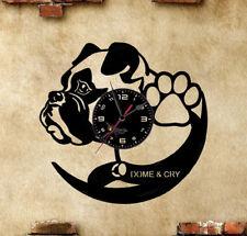 Orologio disco vinil clock orologio da parete cane boxer