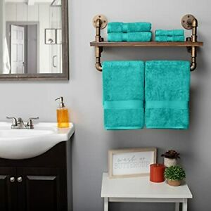 """SUPERIOR Solid Egyptian Cotton Towel Set Washcloths 13"""" x 13"""" Hand Towels 20""""..."""